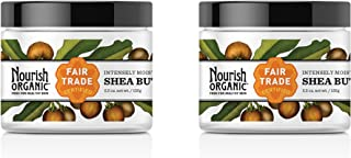 Nourish Organic Intensely Moisturizing Fair Trade Certified Organic Shea Butter, 5.5 fl. oz. (Pack of 2)