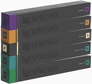 Nespresso Capsulas por cafetera - surtido - 10x Fortissio Lungo 10x Ristretto 10x Volluto 10x Capriccio 10x Arpeggio