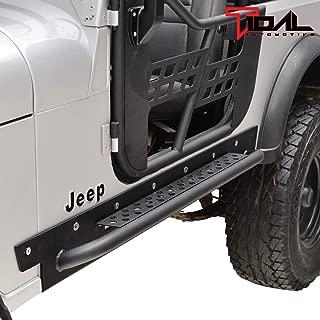 Tidal Running Boards Rock Slider Side Steps Black Fit for 1976-1986 Jeep Wrangler CJ7