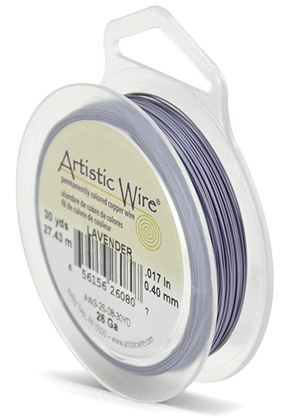 Artistic Wire 26-Gauge Lavender Wire, 30-Yards junz47284