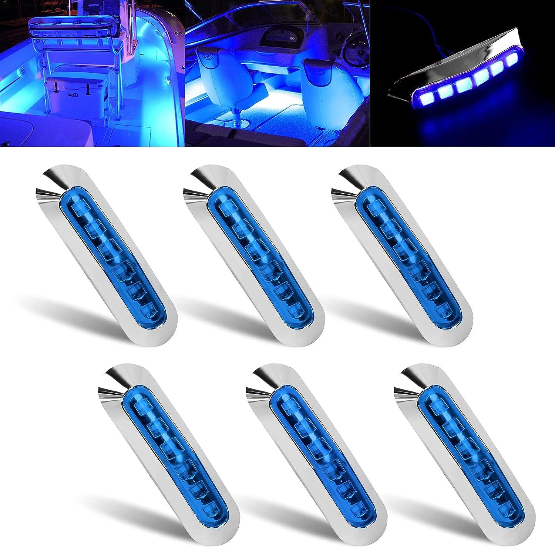 50% Off Coupon – 6 LED Marine Boat Lights Blue