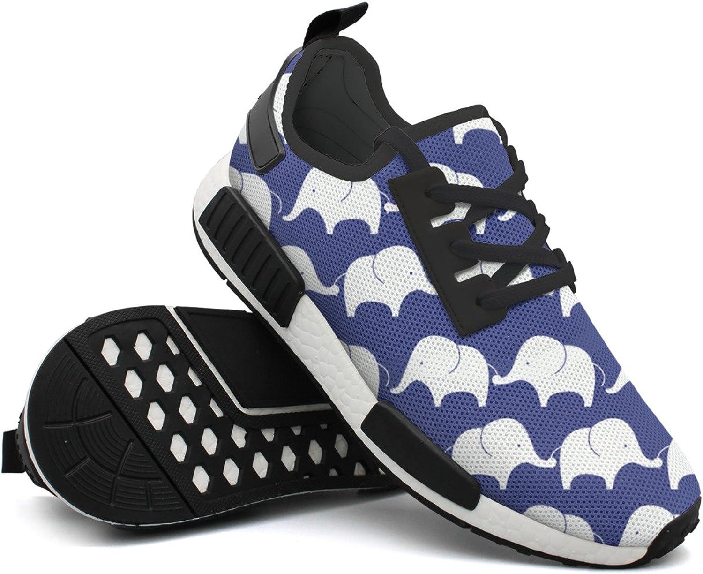 Fashion Sneaker For Men Elephant Print Designer Lightweight Breathable Mesh Mens Gym shoes