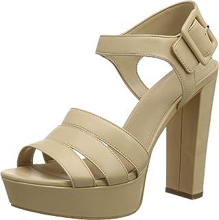 39fda2f3 Guess Lylah (Sandal)/Leather, Zapatos de tacón con Punta Abierta para Mujer