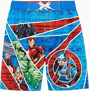 2ed0aa587d70b Marvel Avengers Boys Superhero Swim Trunks Captain America Board Shorts 4