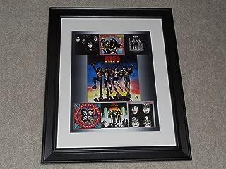 Cleveland Vinyl Kiss 1970's Studio Albums Poster Framed, 14