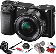 Sony Alpha a6000 Mirrorless Digital Camera with 16-50mm Lens (Black) + Pro Accessories Bundle