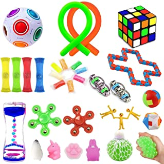 32 Pack Sensory Fidget Toys Set,Stress Relief Hand Toys for Adults Kids ADHD ADD Anxiety Autism, Perfect for Birthday Part...