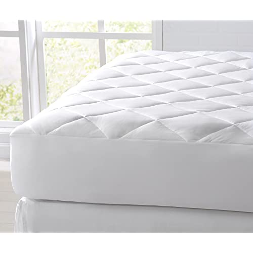 Great Bay Home Cooling Mattress Pad. Extra Plush Hypoallergenic Topper with Cooling Fibers That Absorb