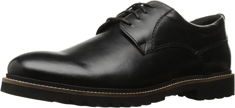Rockport Men's Marshall Plain Toe Oxford black Leather, 11.5 M US, 11.5 M US