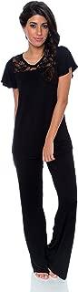 Kathy Ireland Women's 2 Piece Lightweight Shirt Long Pants Pajama Lounge Sleep Set