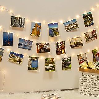 Kolpop USB Clip Cadena de Luces LED, 12m 120 LED Colgar Fotos de Luces 60 Pinzas Para Fotos Fotoclips Guirnalda de Luces Pinzas con Luz para Colgar Fotos Por Decoración,Habitaciones, Bodas,Cumpleaños