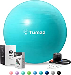 Tumaz Birth Ball or Exercise Ball -The Birth Ball Set Includes: Birthing Ball/Peri Bottle/Yoga Strap/Instruction Poster, T...