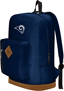 """Officially Licensed NFL Los Angeles Rams """"Playbook"""" Backpack, Blue, 18"""" x 5"""" x 13"""""""
