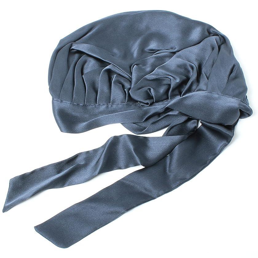 文化ディベート出来事ベーシックエンチ Silk Ribbon Cap キャップ シルク ナイトキャップ フリーサイズ