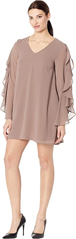 dcfdb5239ad Luli fama candela playera stitched v neck ruffle dress