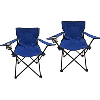 HOMECALL Camping Chairs SET, Foldable, Armrest with Cupholder Picnic Chair Outdoor
