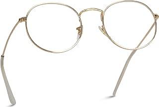 Retro Clear Circle Round Metal Sunglasses