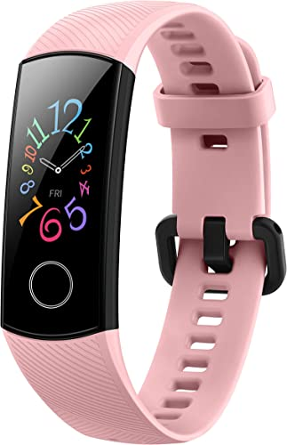 HONOR Band 5 Coralpink Waterproof Full Color AMOLED Touchscreen Spo2 Blood Oxygen Music Control Watch Faces Store Up To 14 Day Battery Life