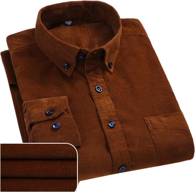 LUCACO Men's Corduroy Max 60% OFF Shirt Long Sleeve Down Workwear Button Popular Reg