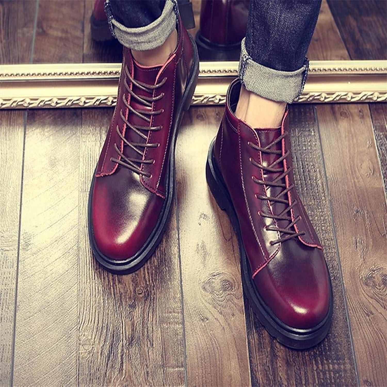 Hhguld Winter Trend för mäns mäns mäns stövlar med stor bomull, friluftsskor (färg  rödvin, storlek  43)  ny stil