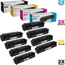 LD Compatible Toner Cartridge Replacements for HP 305A & 305X High Yield (2 Black, 2 Cyan, 2 Magenta, 2 Yellow, 8-Pack)
