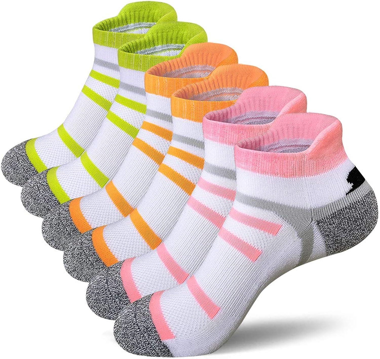 BERING Women's Tab Running Athletic Socks (6 Pair)