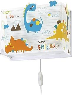 comprar comparacion Dalber Lámpara Infantil Aplique Pared Dinosaurios Dinos, 60 W, Multicolor
