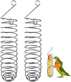 Perroquet Oiseau Panier à Nourriture Acier Inoxydable Perroquet Pendaison Distributeur de Fruits Support de Légume Millet,...