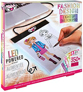 Fashion Angels Fashion Design Light Pad Sketch Set 12521 Light Up Tracing Pad, Includes USB, Ultra Thin Tablet,multi