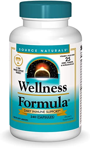 Source Naturals Wellness Formula Bio-Aligned Vitamins & Herbal Defense For Immune System Support - Dietary Supplement...