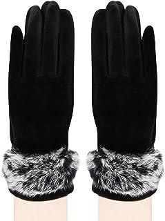 Bongio Womens designer Gloves-Black