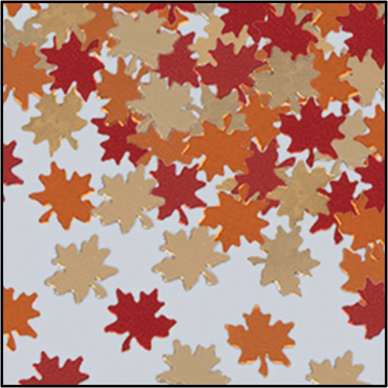 Amazon Com Fanci Fetti Autumn Leaves Copper Gold Red Party Accessory 1 Count 1 Oz Pkg Kitchen Dining