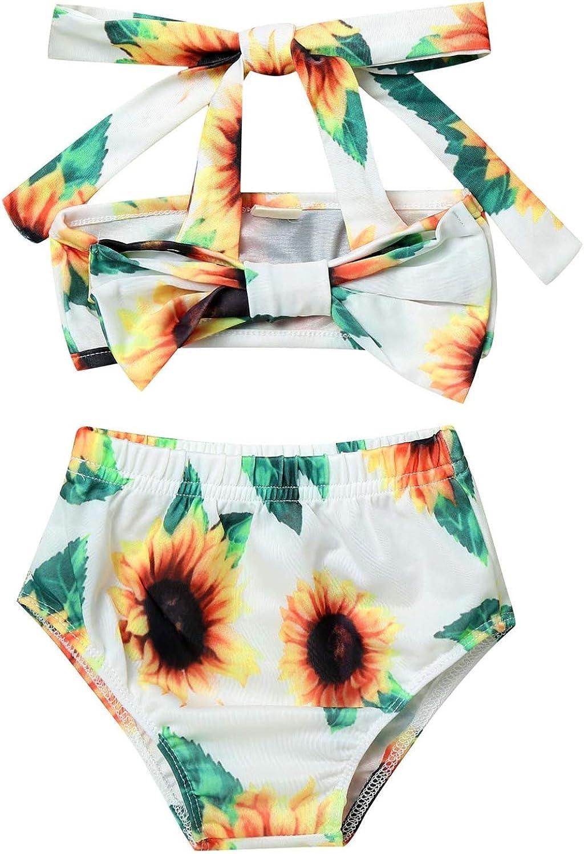 MSemis Spasm price Infant Baby Girls Sunflower Bikini Set Bowknot Big Inexpensive Halter