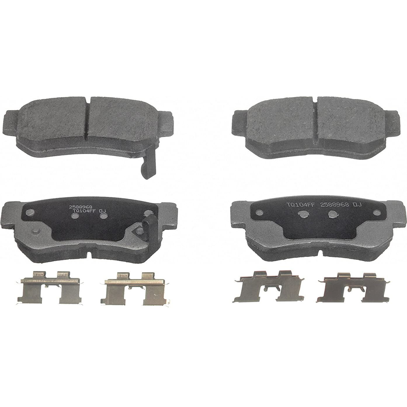 Wagner ThermoQuiet PD813 Ceramic Disc Pad Set With Installation Hardware, Rear