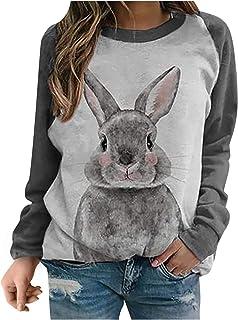 Xmiral T-shirt dames Tie-Dye shirt met lange mouwen dierenprint raglanmouwen O-hals blouse