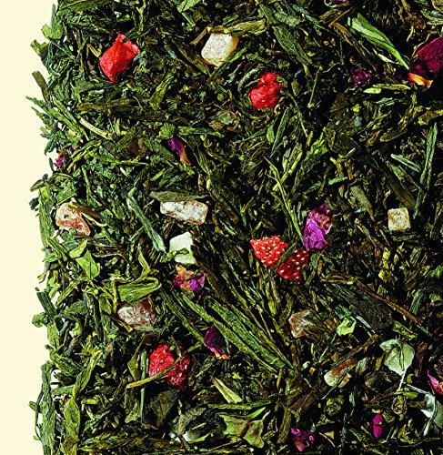 Tee grün/weiß Engelskuss.
