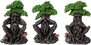 Pacific Trading Greenman See No Evil Speak No Evil Hear No Evil Figurine 3 Piece Set Pagan Wicca