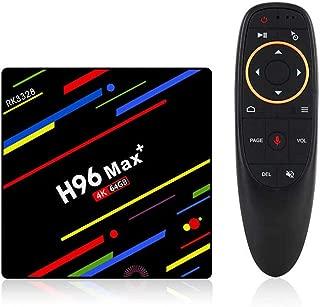 PHANTIO H96 MAX+ 4K Smart TV Box Hotstar - Android 9.0 Bluetooth HDMI2.1 Rockchip RK3328 Quad-core CPU Penta-core Mali-450MP GPU (4GB / 64GB with Voice Remote)