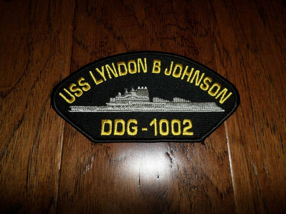 Spring new work Embroidered Patch - U.S Navy Ship Johnson USS HAT Genuine B Lyndon