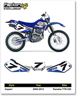 2000-2012 YAMAHA TTR 250 Number Plate Dirt Bike Graphic Impact By Enjoy MFG