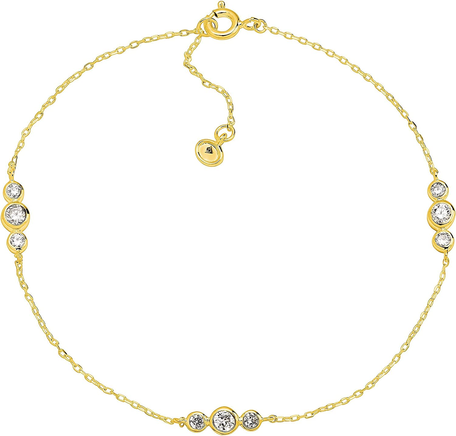 Silpada 'Clarity' San Jose Mall Loll Anklet with Zirconia in Inventory cleanup selling sale Cubic Sterling Si
