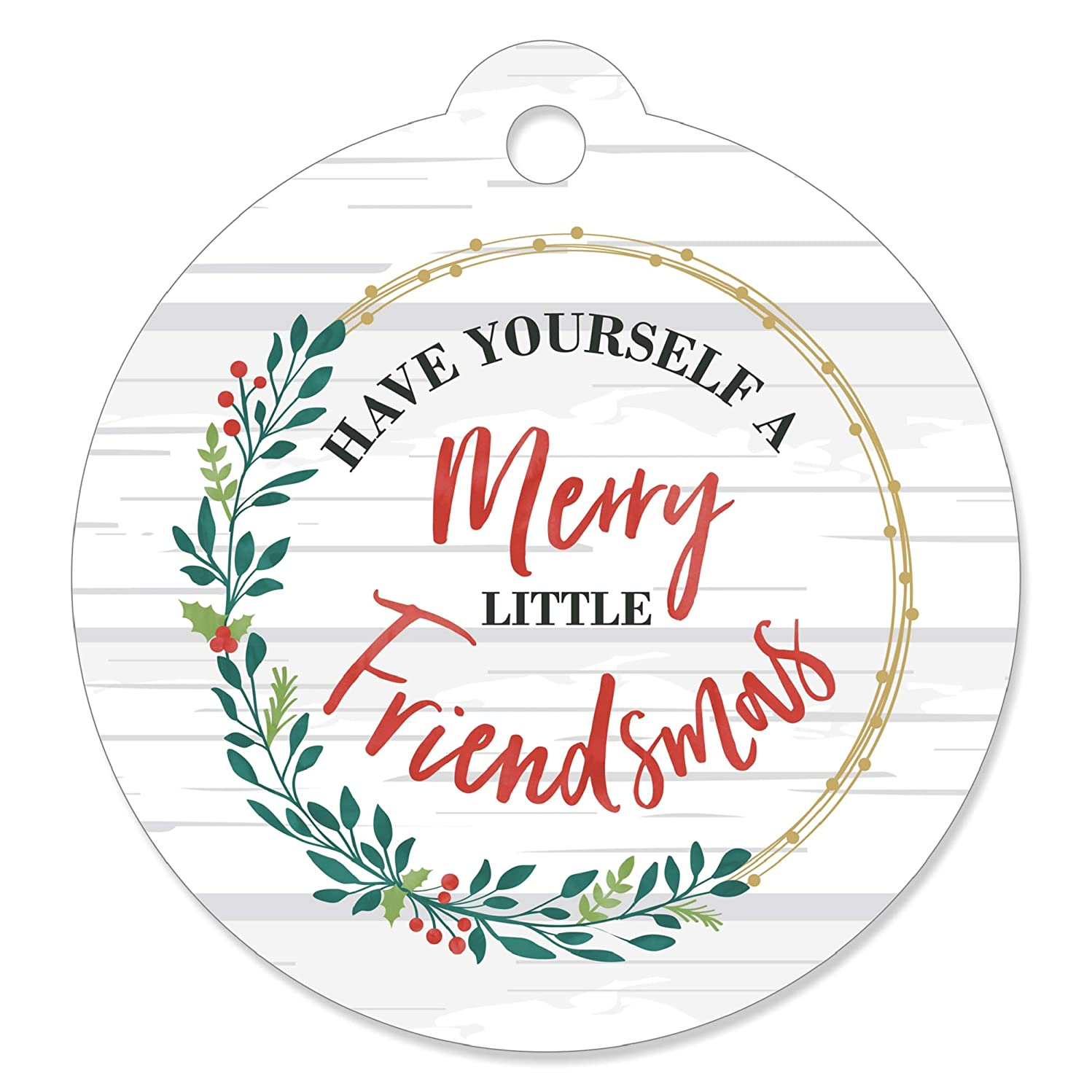 Rustic Merry Friendsmas - Friends Christmas Party Favor Gift Tags (Set of 20)