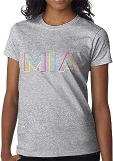 Women's Selected Short Sleeve Shirt Print with Bad Bunny Mia XL Gray