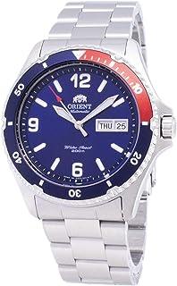 ساعة اورينت اوتوماتيكية رياضية بمينا بلون ازرق وسوار من الستانلس ستيل طراز SAA02009D3