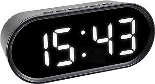 TFA Dostmann digital väckarklocka, med lysande LED siffror, 60.2025.01, svart, belysning med dimmer, snooze