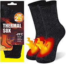 KitNSox Warm Thermal Socks, Mens Womens Winter Thick Insulated Heated Boot Socks for Cold Weather