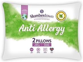 Slumberdown Anti Allergie Witte Kussens 2 Pack Zachte Ondersteuning Bed Kussens Ontworpen voor Front Sleepers Bed Kussens