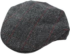 Biddy Murphy Men`s Wool Driving Cap Charcoal Herringbone Made in Ireland
