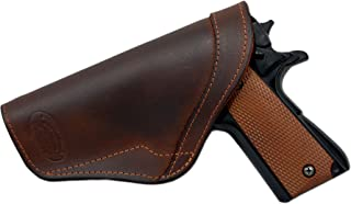 Barsony New Brown Leather Inside The Waistband Holster for Full Size 9mm 40 45