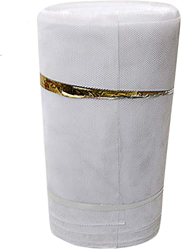 EXCLUSIVE Can Can Net Unstitched Fabric for Women s Tailoring Sewing Fashion Designing Boutique Stitching Alteration Dresses Children s Frocks Bags Pouches Home Furnishing 10 mtr White